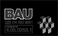 Zertifikat BAU DIN ISO 9001