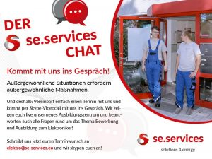 se.services Bewerber-Chat